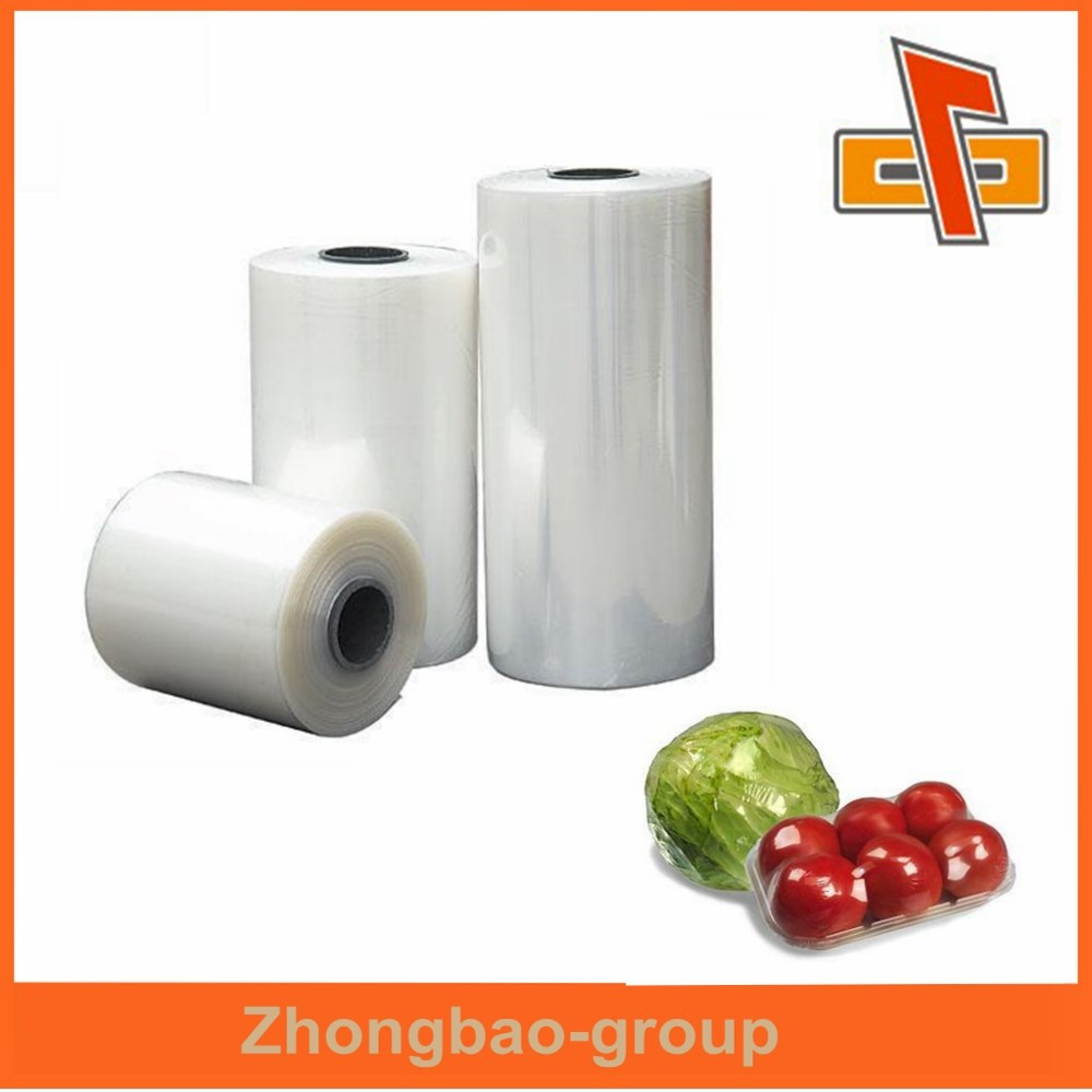 Transparent environmental friendly plastic polyolefin shrink film producer for vegetable packing