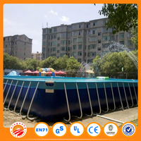 Free shipping 0.9mm pvc tarpaulin inflatable pool rental