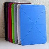 Simple colorful laether flip cover for ipad mini 2/3 case