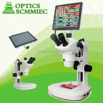 9.7inch LCD screen and 5.0Mp camera Digital stereo microscope