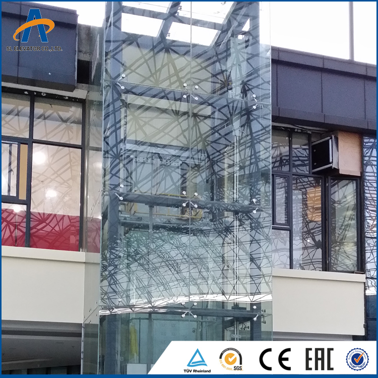 OEM sightseeing lift Auto glass lift panoramic elevator lift hydraulic
