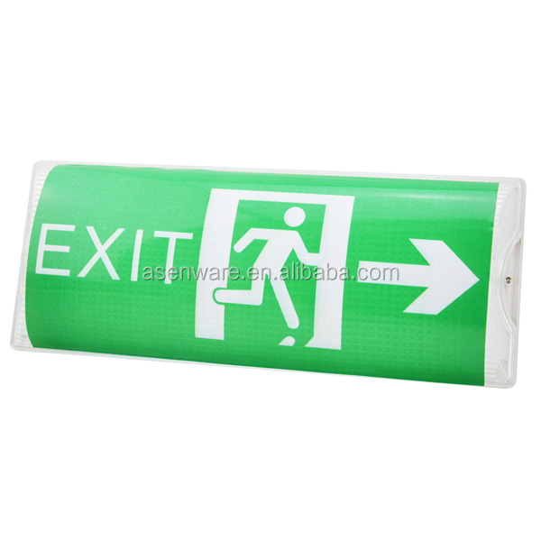 Rechargeable battery ceiling mounted emergency light exit sign