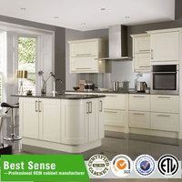 Luxury style white kitchen cabinets for hotel project