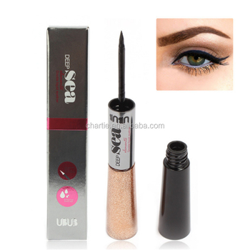 Deep sea perfect charm double head eyeliner + lightning eyeliner fluid waterproof eyeliner