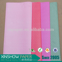 Colorful dots foaming non woven sheets for flower wrapping paper.