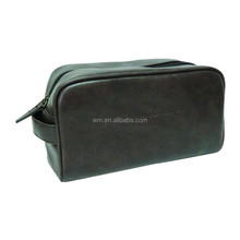 Contents leather cosmetic bag for men