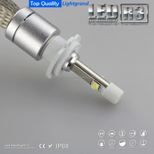H7 9600lumen Fanless LED auto headlight, with CREEchip Integrated CE RoHS IP68 for car lighting reforming/tuning/upgrading