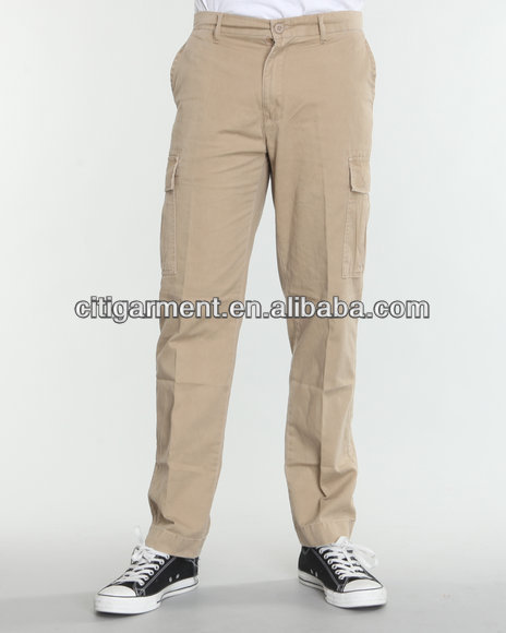 pocket chinos cotton pants for sale KN8PM