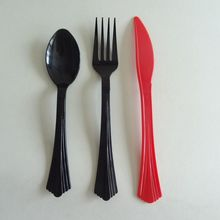 Low price wholesales disposable PSM corn starch plastic ice cream knife and fork spoon cutlery