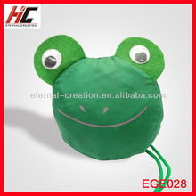 most popular cute folding frog Pouch portable fruit shopping bag made of nylon gift bags