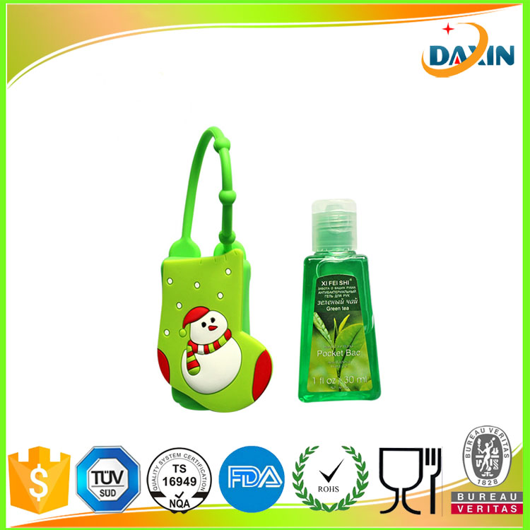 Antibacterial mini silicone hand sanitizer holder