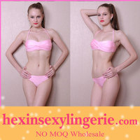No moq extrem model lovely pink color girl nude bikini