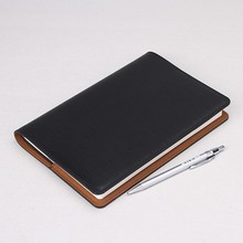 Custom leather book cover for business man/woman in black color