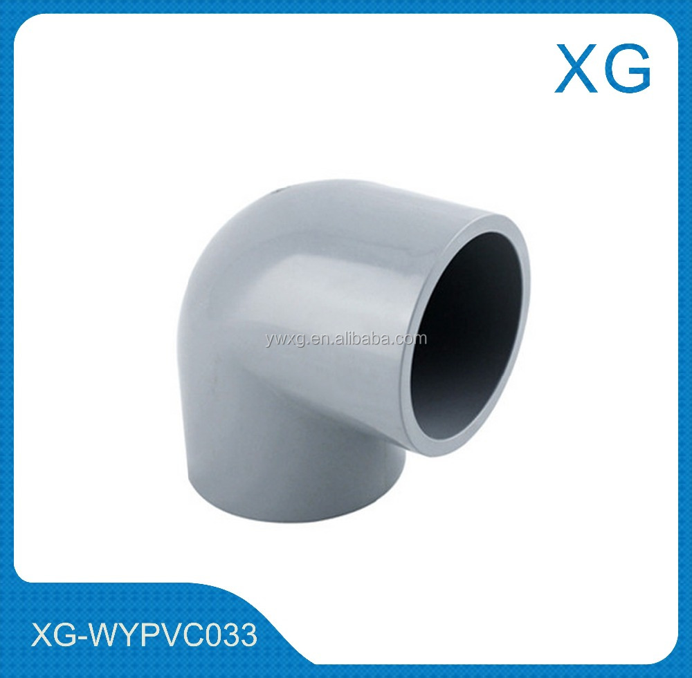 PVC sanitary plumbing pipe fittings equal elbow/pvc water pipe fittings 90 degree elbow PN16