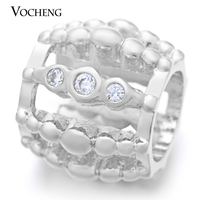 Vocheng Endless Charms Real Gold Plating Inlaid Zircon Crystal&Brass for 6mm DIY Lambskin Bracelet VC-079