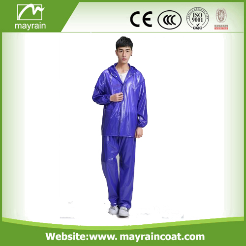 Hot selling rainsuit, plastic rainwear, durable raincoat