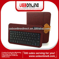 Detachable 3.0 Bluetooth keyboard folio case Compatible with Samsung galaxy note 8.0 red