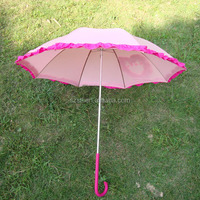 Pretty Promotional Pink Korean Umbrella With Frills