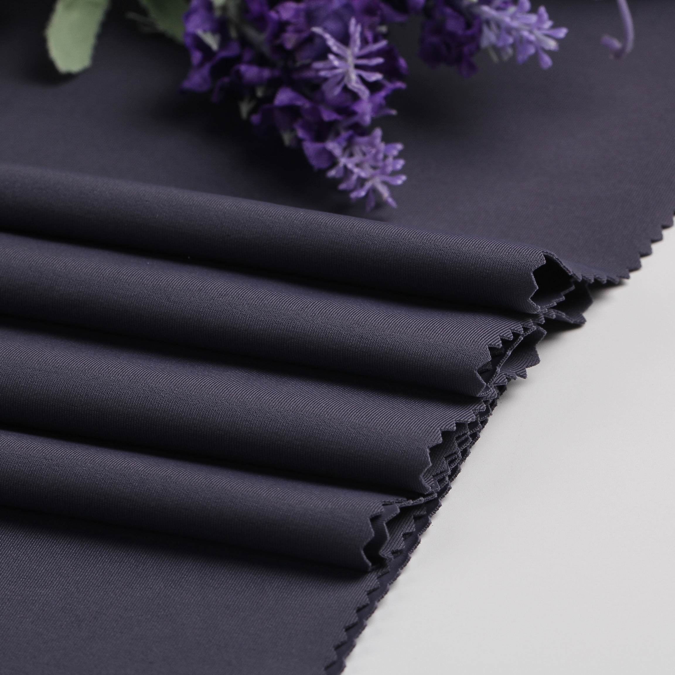 thick flat interlock polyester stretch knit fabric for sportswear