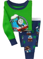 fashion boys girls green toms pajamas sets baby cotton nightgown