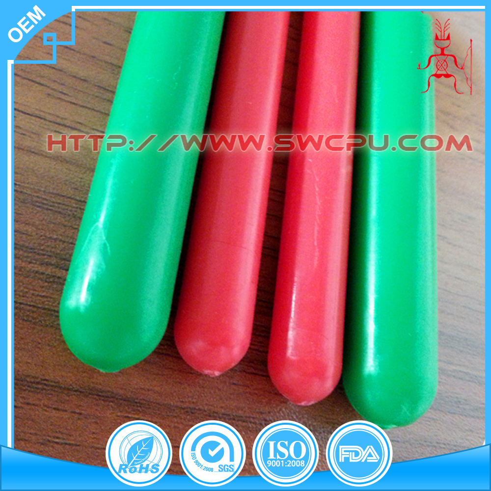 Colored solid plastic rod