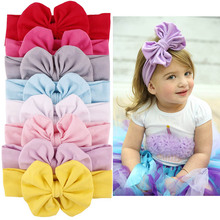 ZOGIFT 2017 fashion design high quality knit cotton baby <strong>headband</strong> with bow