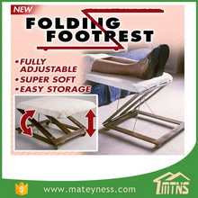 3-Way Folding Wooden Footrest Adjustable Foot Stool