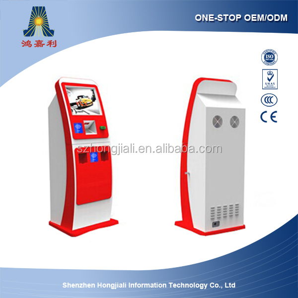Self service hotel check-in terminal machine/Hotel self-register Kiosk/Hotel room card self-dispenser Kiosk