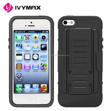PC+silicone shockproof dustproof high quality cell phone case for iphone 5s/se