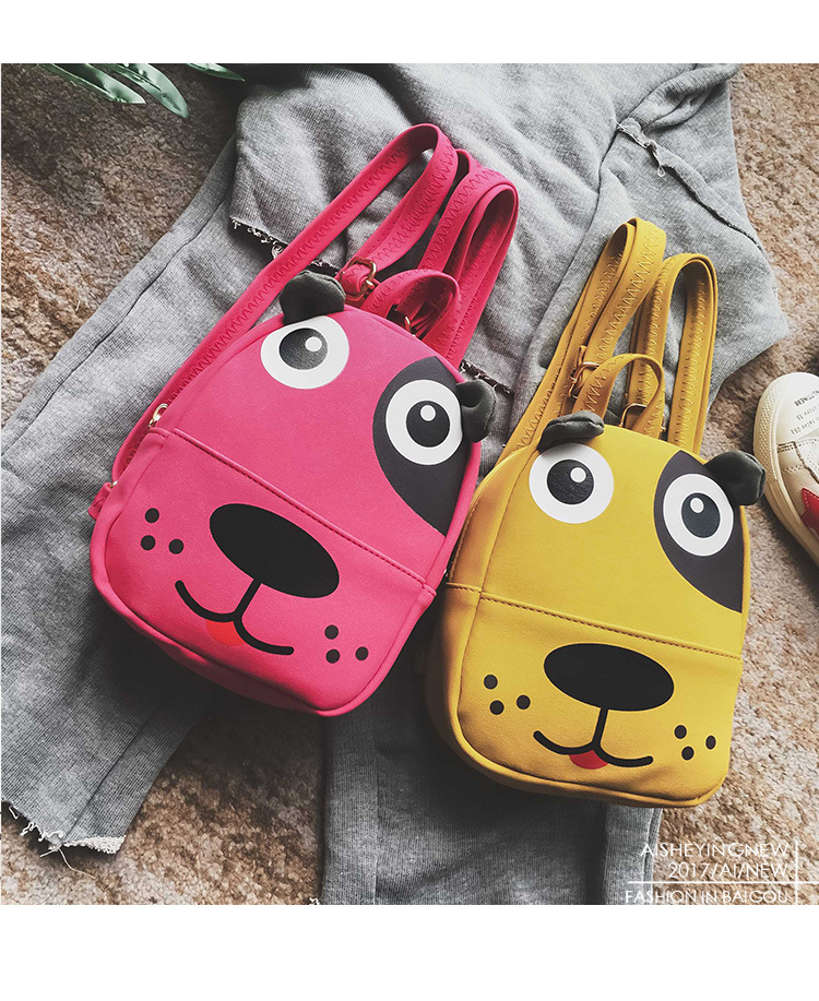 Girls Backpacks 2018 Korean Fashion Baby Travelling Cartoon Dog Design Zipper Backpack Girls Shoulder Bag With Ear