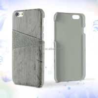Fashion wooden style leather material cell phone case 4.7 inch