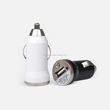 2018 hot selling promotional gift bullet shape Mobile Phone Use 5v 1a Micro usb car charger Made in China
