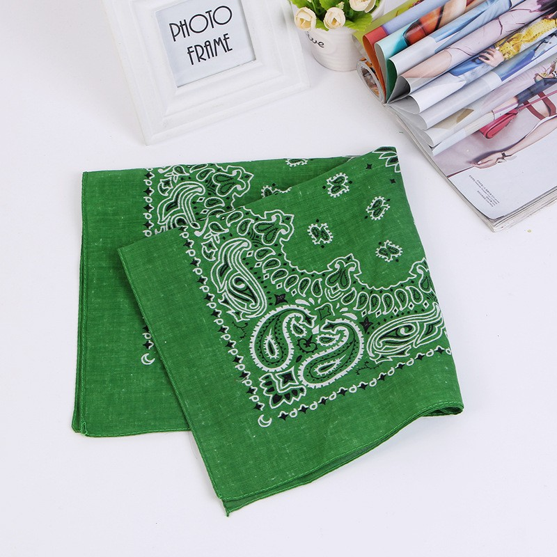 "Cheap Wholesale Promotional 22""*22"" Square Football Fans Head Scarf Custom printed Cotton Bandana"
