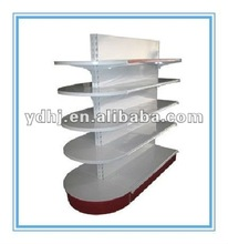 Double Sides Supermarket Half Round Head Display Shelf