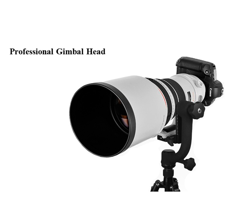 "Panoramic Gimbal Tripod Head With 1/4""Screw For Telephoto Len Camera"