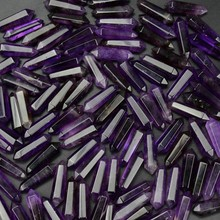 Wholesale 3A amethyst <strong>Point</strong> crystal quartz Amethyst double Terminated <strong>Points</strong> for sale
