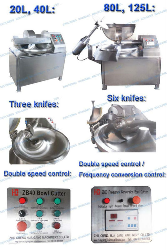 Factory supply hot selling bowl cutter sausage machine