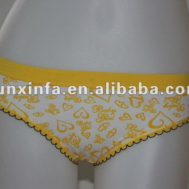 Latest new active yarn cotton/spandex woman underwear,young girls underwear
