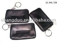 Promotional gift leather coin pouch
