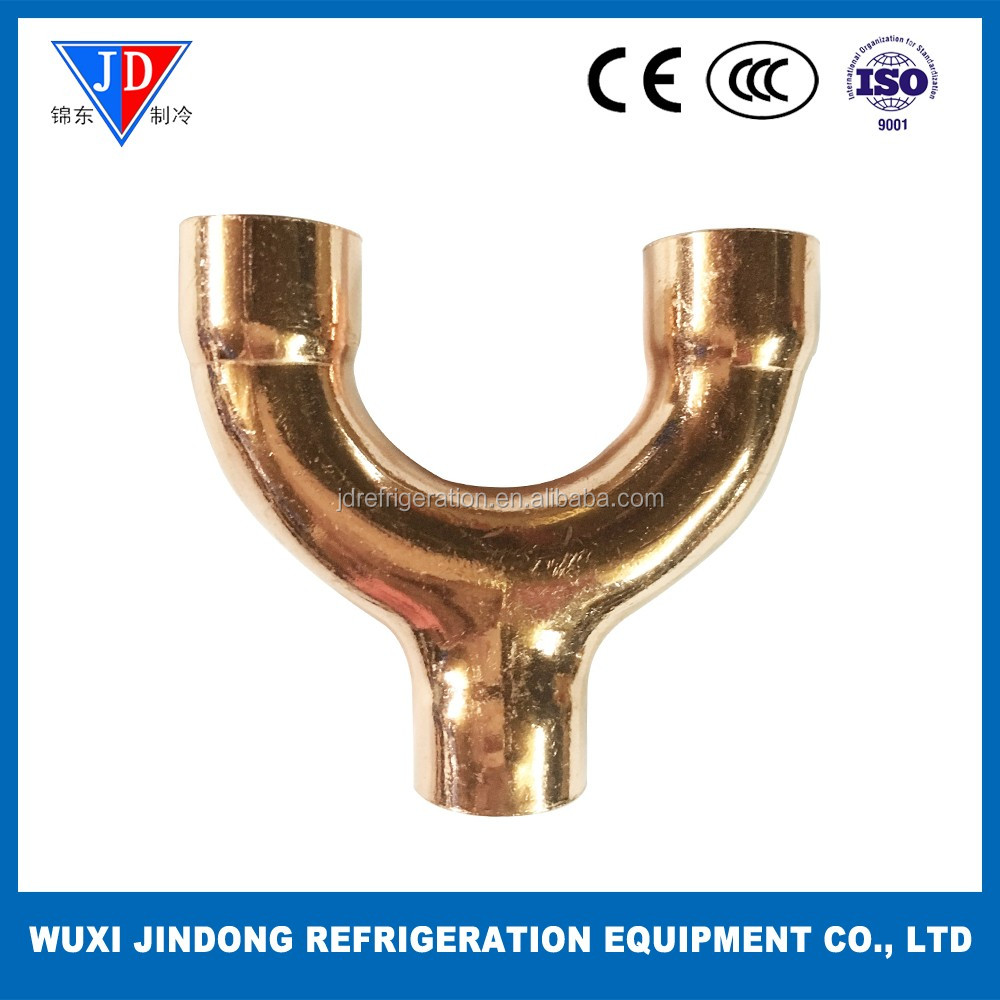 Refrigeration type copper fitting 6.35mm Y sharp copper eblow