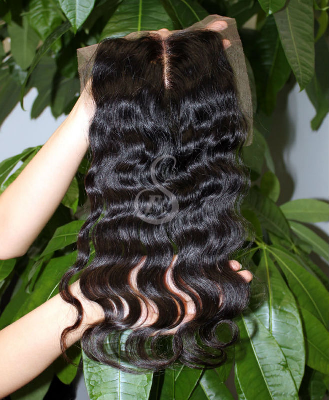 Top quality Qingdao factory cheap wave lace front middle parting cheap lace closure