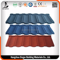 Roof Material PC Certificate shingle mixed color stone coated steel roof tile/Aluminium Zinc Sheet/Tile Roof