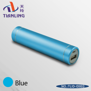 Professional manufacturer power bank lipstick portable blue