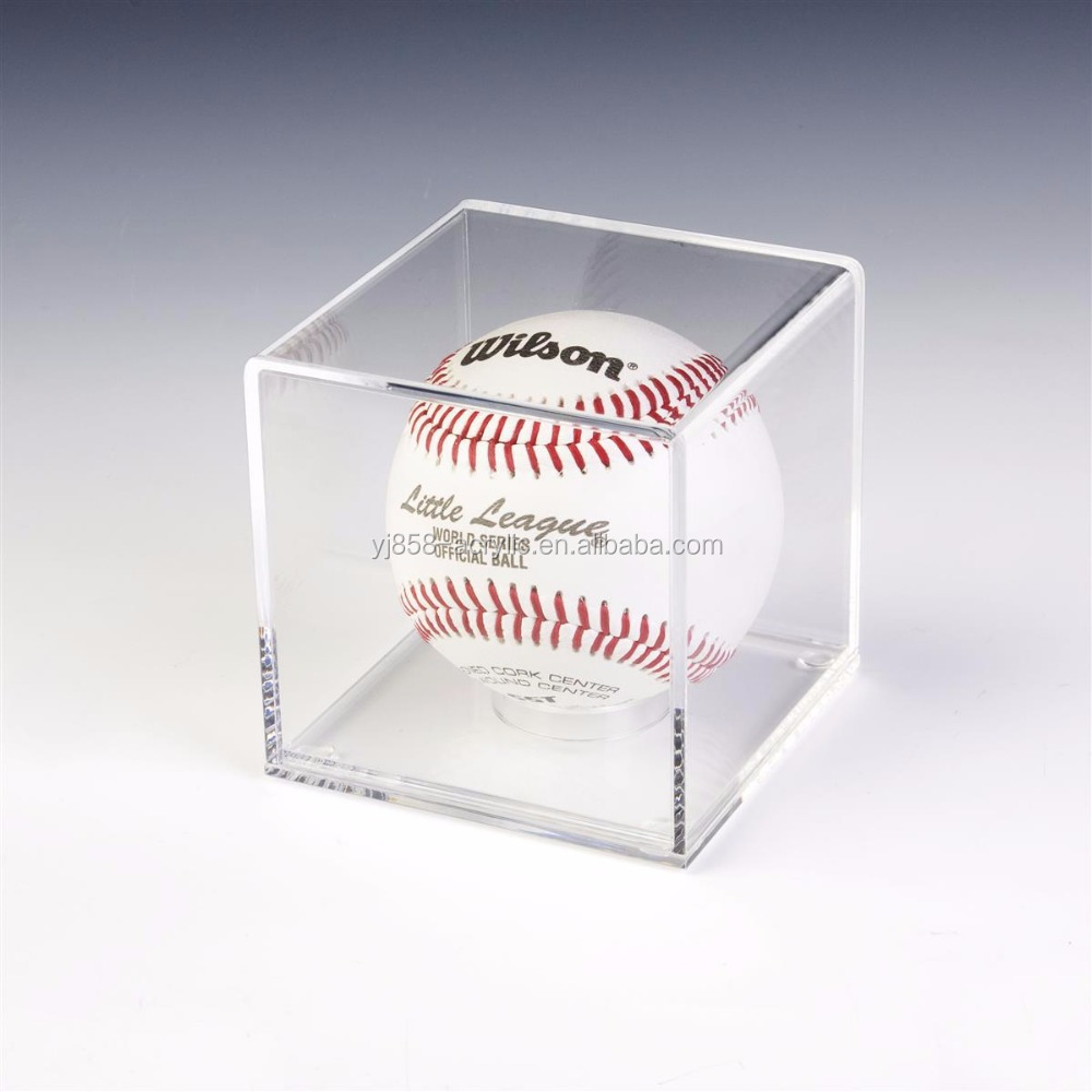 cheap acrylic cube baseball display case factory wholesale