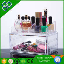 Beautiful acrylic decorative storage boxes and acrylic display rack for cosmetic