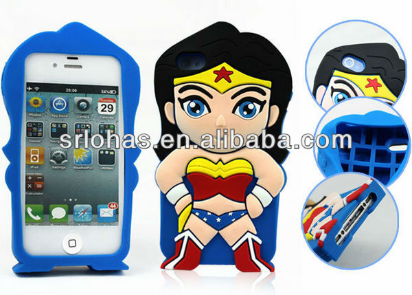 cute 3d silicone cell phone case