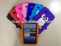 New penguin Silicon back Case Cover For Samsung Galaxy Tab 2 7.0 Tablet P3100