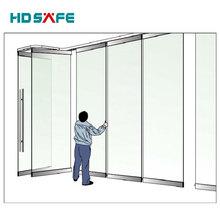 China large shopping mall design glass partition door aluminum glass sliding folding door