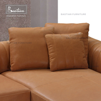 best selling italian leather furniture sofa L shaped sectional sofa
