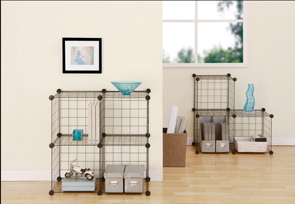 4 cubes grid wire modular shelving and storage cubes fh alw0016 buy shelving and storage. Black Bedroom Furniture Sets. Home Design Ideas
